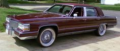 Burgundy with White and Gold Vogues.  A fantastic combination.  Set yourself apart with Vogue Tyres!