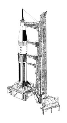 artist's rendition of Saturn IB on the launch pad Apollo Space Program, Nasa Space Program, Apollo 11, Rocket Launch Pad, Programa Apollo, Apollo Spacecraft, Space Launch, Aerospace Engineering, Kennedy Space Center