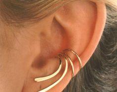 Full Ear Leaf Flower Non-Pierced Ear Cuff in Sterling Silver