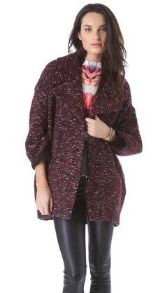 Пальто из ткани букле