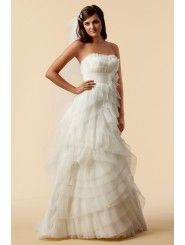 Tulle Strapless Sweet Crumb Neckline Wedding Dress