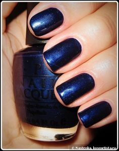 O.P.I. Yoga-ta get this blue. Beautiful sapphire blue. Love this as a pedicure color.