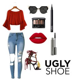 """""""Ugly Shoes? Nahh.. It's My Style"""" by akanksha-picky on Polyvore featuring Dsquared2, Fendi, Guerlain, NARS Cosmetics, MAC Cosmetics and Lime Crime"""