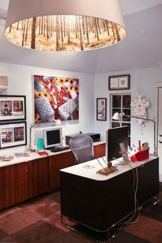 Inspiration Pour Le Bureau à La Maison / Home Office Inspiration Office  Workspace, Office Walls