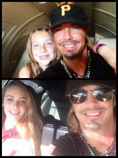Bret with his daughters wishing everyone a happy fathers day