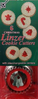 Christmas Themed Linzer Cookie cutter set