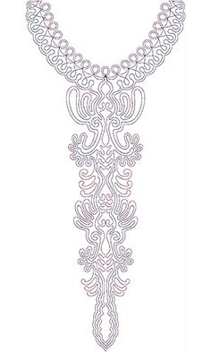 Tunisian Jewish Women Dress Neck Embroidery Design