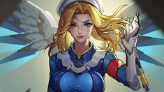 Awesome Mercy Combat Medic Ziegler Overwatch 1920x1080 wallpaper