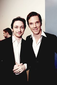 Benedict Cumberbatch & James Mcavoy - why, hello my british laddies ;)
