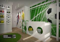 Bedroom Soccer Bedroom, Football Bedroom, Bedroom Themes, Girls Bedroom, Bedroom Ideas, Boy Room, Kids Room, Football Rooms, Bedroom Green