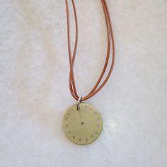 Sun Disc on Leather – Eran Naylor Jewellery