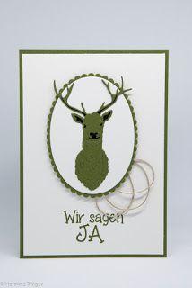 Aufstempeln!: Auf zur Jagd Emblem, Christmas Ornaments, Holiday Decor, Home Decor, Place Cards, Hunting, Invitations, Decoration Home, Room Decor