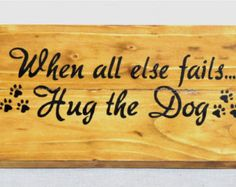 Recycled pallet sign | Etsy Dog Lover Quotes, Dog Quotes, Animal Quotes, Dog Lovers, Pallet Art, Pallet Signs, Dog Signs, Funny Signs, Bone Crafts