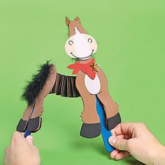 Accordion Horse Craft Kit - Oriental Trading - Discontinued