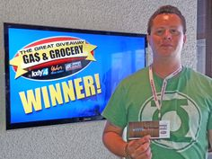 Ray VanLengen won $100 in The Great Gas & Grocery Giveaway from KXLY4, Divine's & Yokes.