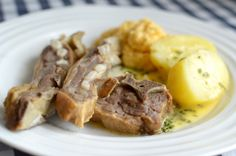 Delicious Dried Lamb Ribs with Swede Purée and Potatoes. Even a nice buttersauce with herbs.