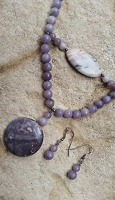 Lilac jasper necklace