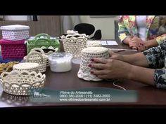 Mulher.com 05/08/2014 - Cachepo Croche Endurecido por Carmem Freire - Parte 2 - YouTube