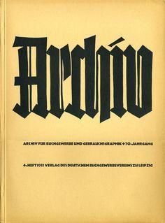 https://flic.kr/p/eoNxV3 | Cover Archiv für Buchgewerbe und Gebrauchsgraphik, 70. Jahrgang, Heft 4, 1933