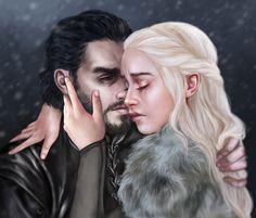 Daenerys Targaryen, Jon Snow - Game of Thrones Hip Hip, Jon Snow Y Daenerys, Real Madrid, Dany And Jon, Game Of Thones, Fantasy Couples, Game Of Thrones Art, Mother Of Dragons, Couple Art