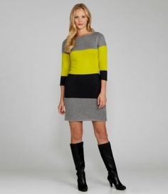 Snagged this at Burlington today!! online for $89. I got it for $39.99    Calvin Klein Striped Sweater Dress |