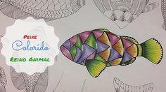 Livro de Colorir Reino Animal - Pintando o Peixe #1 | Luciana Queiróz