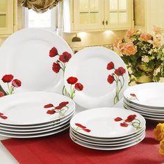 Porcelánová jídelní souprava Vlčí máky, BANQUET Banquet, Decorative Plates, Tableware, Kitchen, Home Decor, Dinnerware, Cooking, Decoration Home, Room Decor