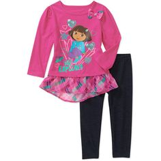Nickelodeon Baby Girls' Dora 2 Piece Plaid Tunic and Legging Set: Baby Clothing : Walmart.com