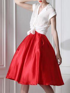 #AdoreWe #StyleWe Midi Dresses - To my fair lady White Two Piece Sleeveless Silk Midi Dress - AdoreWe.com