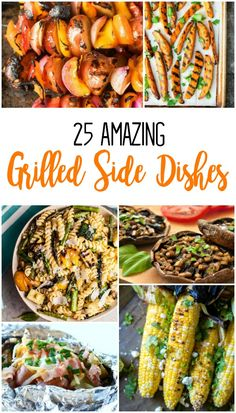 Make your entire meal on the grill with these simple grilled side dishes! Recipes for grilled corn, potatoes, sweet potato fries, vegetable kabobs, grilled green beans and stuffed mushrooms on the grill. Barbeque Side Dishes, Barbeque Sides, Grilling Sides, Barbecue, Sides On The Grill, Meals On The Grill, Camping Side Dishes, Vegetable Pasta, Vegetable Side Dishes