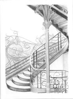 victor horta drawings for staircase - Google Search