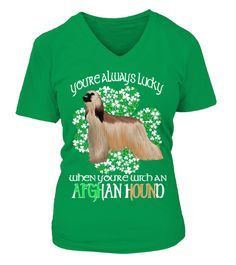 """# St Patrick's Day With An Afghan Hound .  HOW TO ORDER:1. Select the style and color you want:2. Click """"Reserve it now""""3. Select size and quantity4. Enter shipping and billing information5. Done! Simple as that!TIPS: Buy 2 or more to save shipping cost!St Patrick's Day Lucky When You Are With An Afghan Hound DogThis is printable if you purchase only one piece. so don't worry, you will get yours.Guaranteed safe and secure checkout via:Paypal 