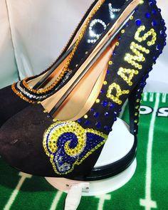 "4ad45be3bd2cc Sparkle Custom Heels on Instagram  "" saints  rams  football  Rams  Saints   whodat  nflplayoffs  neworleans  touchdown  nola  losangeles  whodatnation  ..."