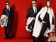 The Spring/Summer 2013 campaign starring Romeo Beckham in Burberry tailoring with Max Rendell and Edie Campbell