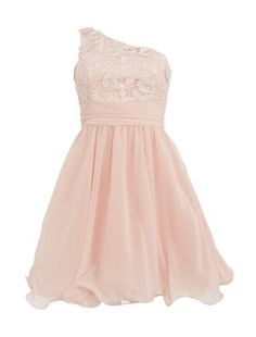 Chi Chi Cutwork Flower Sleeveless Prom Dress -newlook