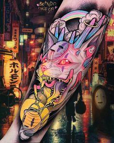 New Tattoo Designs Color Tatoo 44 Ideas Trendy Tattoos, New Tattoos, Body Art Tattoos, Hand Tattoos, Small Tattoos, Tatoos, Colorful Tattoos, Rite De Passage, Tatuagem New School