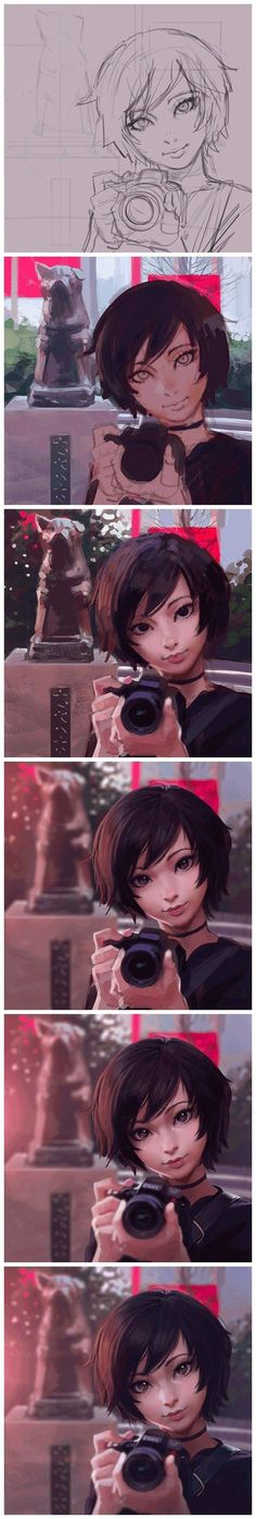 [Ilya Kuvshinov] works as well as original paintings draw process diagrams _ people _ Baidu Post Bar Bar via cgpin.com