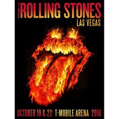 Lithograph featuring the Fiery Rolling Stones tongue logo and dates from Las Vegas. Rolling Stones Concert, Rolling Stones Tour, Tour Posters, Band Posters, Music Posters, Pop Rock, Rock N Roll, Circus Music, Stone World