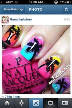 Cute beach nails