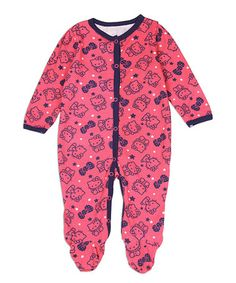 Look what I found on #zulily! Pink & Navy Hello Kitty Sleeper - Infant #zulilyfinds