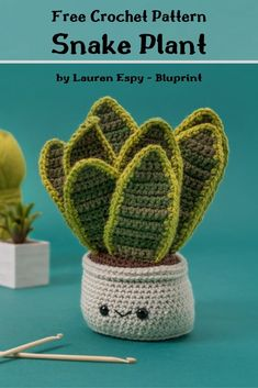 A free crochet pattern of a Snake Plant. Do you also want to crochet this Snake Plant? Read more about the Free Crochet Pattern Snake Plant. Crochet Flower Patterns, Embroidery Patterns Free, Crochet Patterns Amigurumi, Crochet Designs, Crochet Flowers, Crochet Cactus Free Pattern, Quick Crochet Patterns, Kawaii Crochet, Cute Crochet