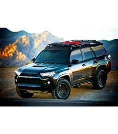 TOYOTA 4RUNNER 5th GEN STEALTH RACK. Reg 4 Light Setup WITH SUNROOF.