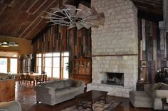 I want: 1. a great room big enough for this fan and 2. I want a fan made from an antique windmill, how cool is that