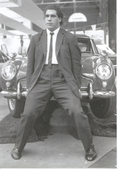 Andre the Giant - Being handsome and lifting a car. Nbd.
