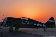 A Republic P-47 Thunderbolt on the ramp at the 2012 Planes of Fame Air Show.