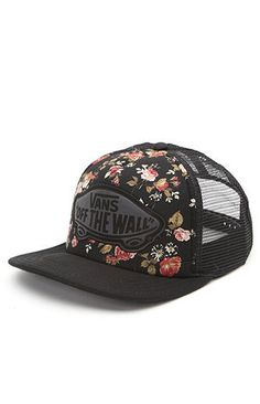 90deb195694 Vans Floral Beach Girl Trucker Hat Surf Girls