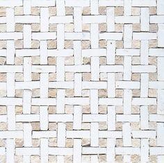 Basketweave, White/beige Honed Mosaics Limestone Mosaics 8×8