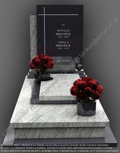PROWADZIMY BIURA I PRODUKCJĘ NAGROBKÓW NA TERENIE CAŁEGO KRAJU, DLATEGO JESTEŚMY BLISKO TWOJEGO CMENTARZA. Zadzwoń, napisz, zapytaj o wycenę nagrobka.  Dobry… Tombstone Designs, Funeral Sprays, Cemetery Headstones, Design Model, Templates, Grave Decorations, Modern Family, Floral Arrangements, Stones
