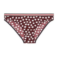 Love Stories 'Firecracker' stars and stripes print briefs ($40) ❤ liked on Polyvore featuring intimates, panties and underwear