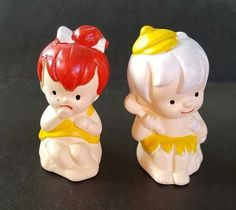 Vintage pebbles and bam-bam salt and pepper shakers FOR SALE • $5.95 • See Photos! Money Back Guarantee. 2 3/4 inches tall 252820814609